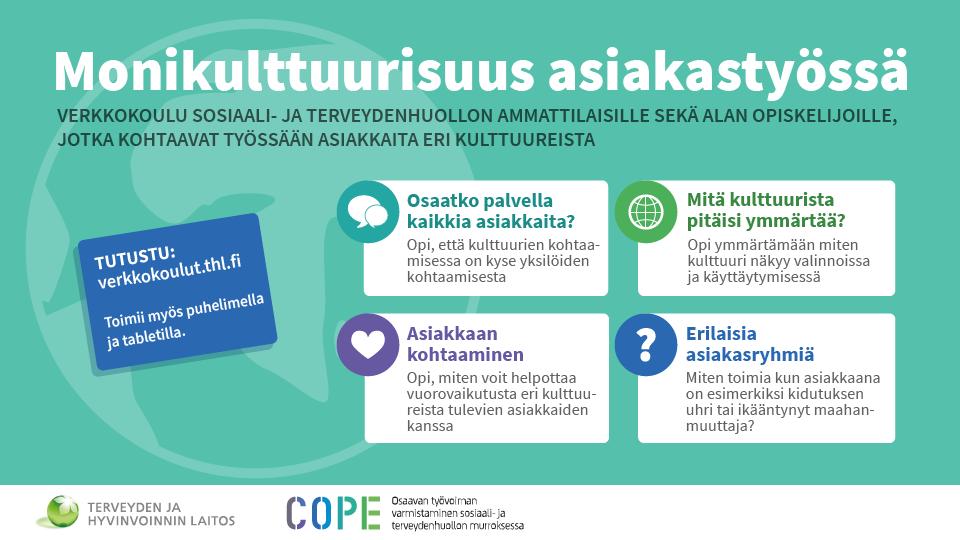 Infograafi: Verkkokoulun osa-alueet.